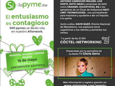 Si a la pyme evento afterwork en Madrid